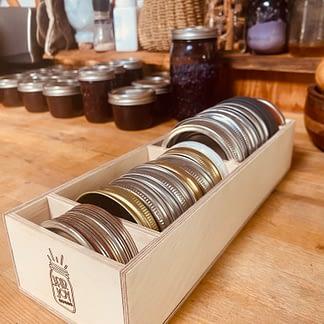 jar lid divider, jar lid organizer, sustainable, zero waste, kitchen organization